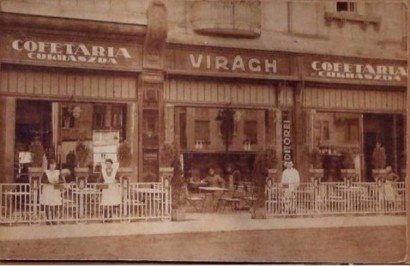 Cofetaria Trandafirul in urma cu 100 de ani